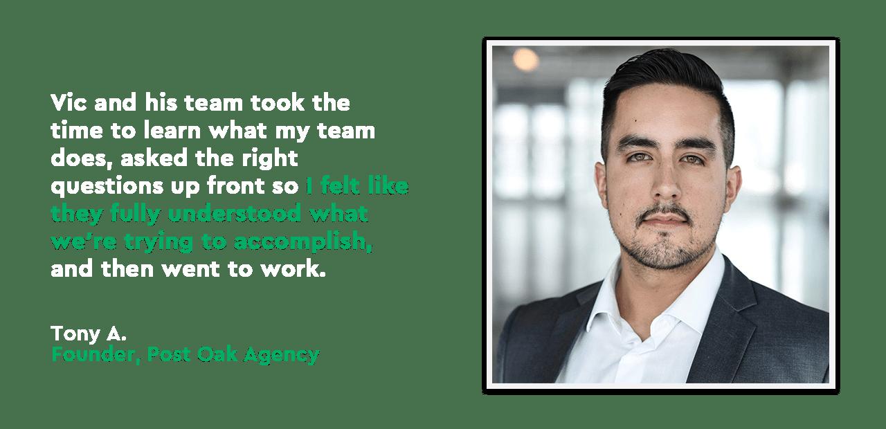 Tony A. - Social Gravity Testimonial - Post Oak Agency